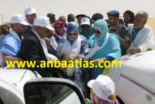 وزيرة شؤون المرأة خلالة انطلاق فعاليات العيد الدولي للمرأة